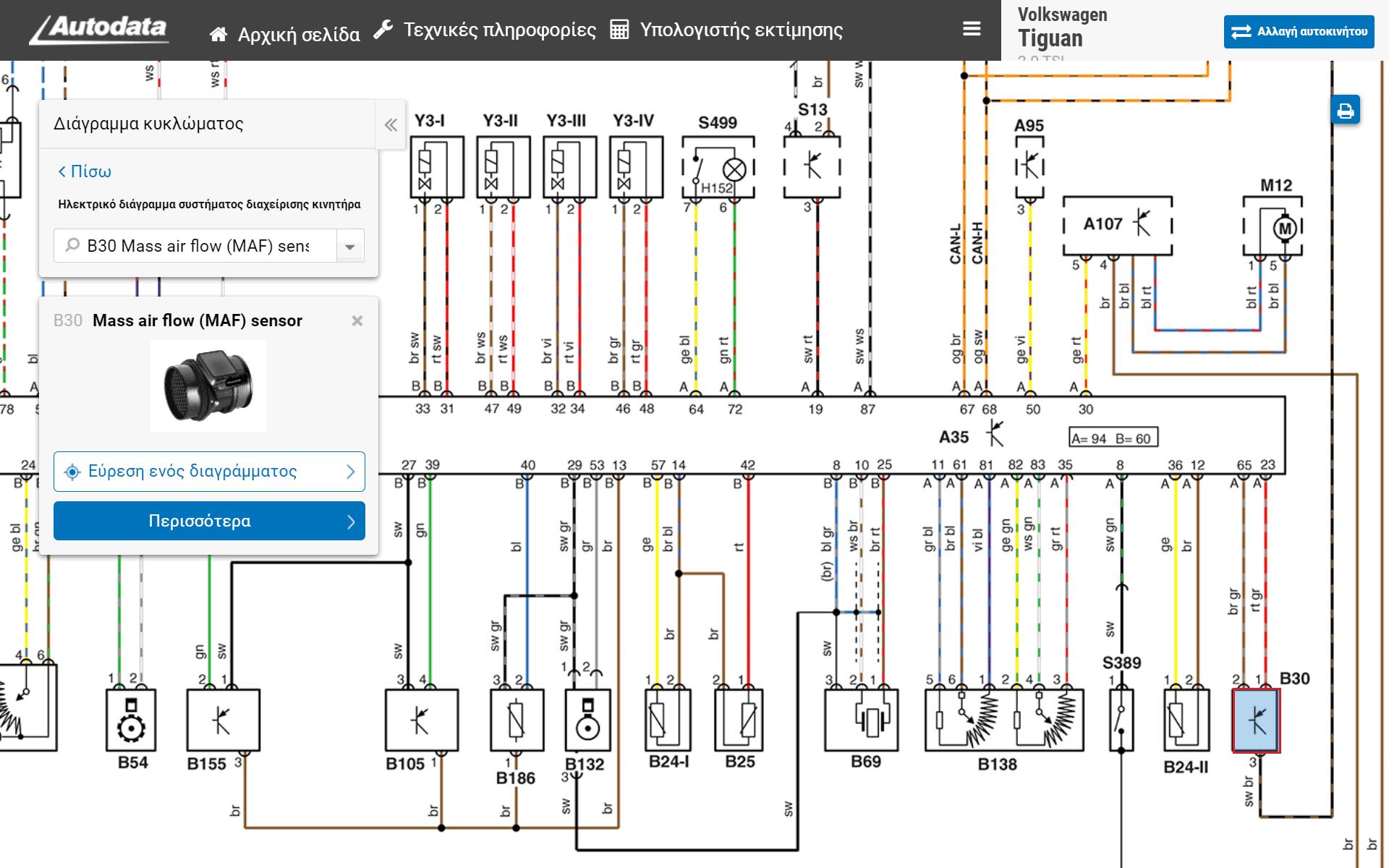 Autodata Τεχνικές πληροφορίες